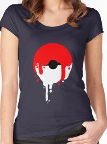 Pokeball Melt Women's Fitted Scoop T-Shirt