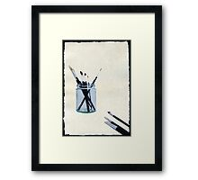 Blank Canvas | Black Framed Print