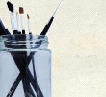 Blank Canvas | Black Sticker