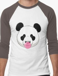 Panda and bubble gum Men's Baseball ¾ T-Shirt