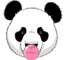Panda and bubble gum Photographic Print