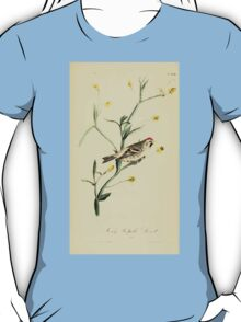 James Audubon Vector Rebuild - The Birds of America - From Drawings Made in the United States and Their Territories V 1-7 1840 - Mealy Redpoll Linnet T-Shirt