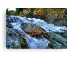 The Spirit Boulder at Livermore Falls Canvas Print