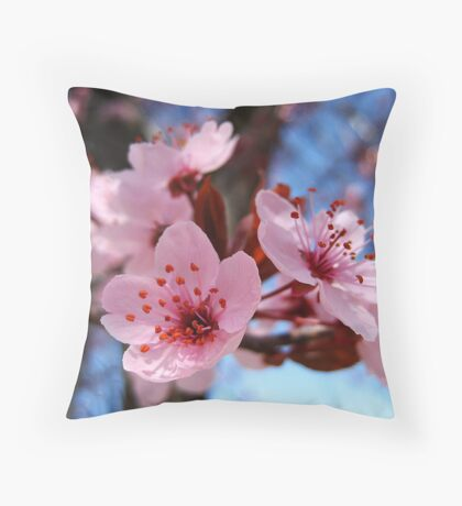 Blossum Song Throw Pillow