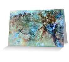 The Carina Nebula (From the Reverse Universe) Greeting Card