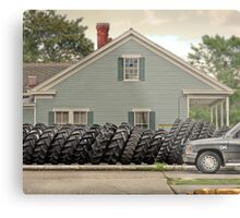 Louisiana Tires Metal Print