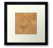 Desert Mist Bubble Dot Color Accent Framed Print