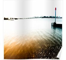 Rippling Tide at the Mouth of Shoreham Harbour Poster