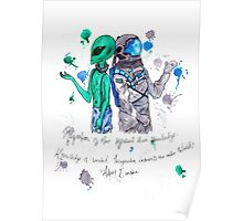 Alien and Astronaut Poster