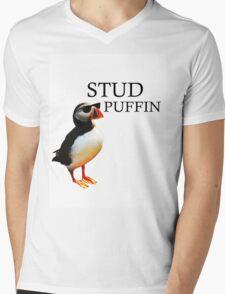 Stud Puffin Mens V-Neck T-Shirt