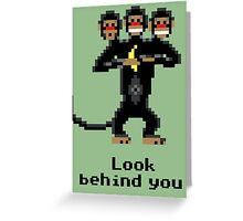 Three-Headed Monkey Greeting Card