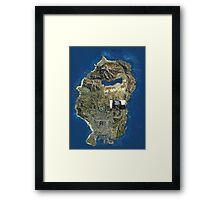 GTA V MAP Framed Print