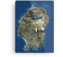 GTA V MAP Metal Print