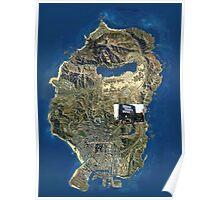 GTA V MAP Poster