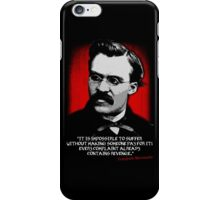 Friedrich Nietzsche Philosophy Quotation iPhone Case/Skin