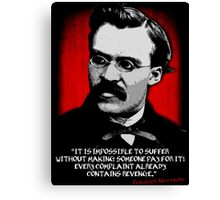 Friedrich Nietzsche Philosophy Quotation Canvas Print