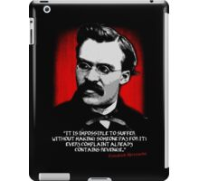 Friedrich Nietzsche Philosophy Quotation iPad Case/Skin