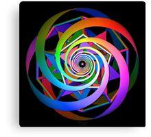 'SpiralDocecaStar 1' Canvas Print