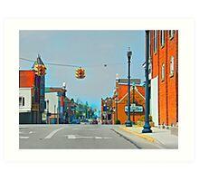 Small Town Art Print