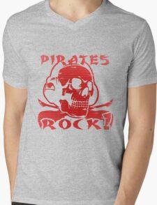 drum and bass pirates Mens V-Neck T-Shirt