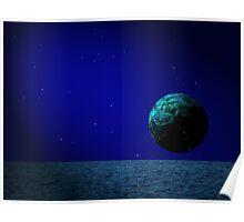 Aqua Luna and The Midnight Sun Poster