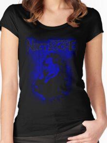 Friedrich Nietzsche Philosopher Design Women's Fitted Scoop T-Shirt