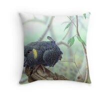 Yellow-tailed Black Cockattoo #2 Throw Pillow