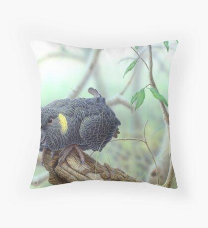 Yellow-tailed Black Cockattoo #2 Throw Pillow