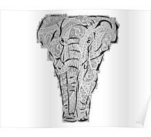 Elephant - grey  Poster