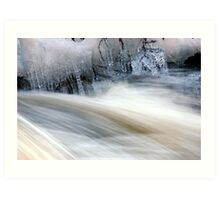 Ice and Moving Water  Art Print