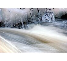 Ice and Moving Water  Photographic Print
