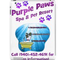 Purple Paws Grooming and Resort iPad Case/Skin