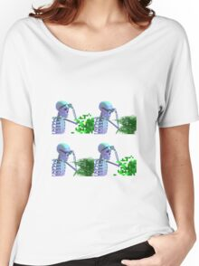 cool skeleton looking at plant Women's Relaxed Fit T-Shirt