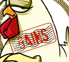 The Gains Chicken Sticker