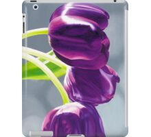 Purple Tulips II. - Oil painting iPad Case/Skin