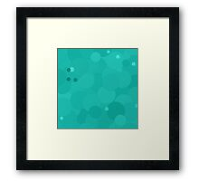 Turquoise Bubble Dot Color Accent Framed Print