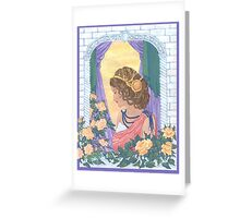Sunset Roses Greeting Card