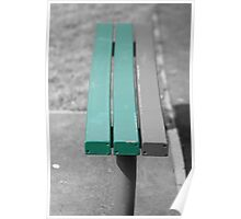 Park bench with a splash, Poster