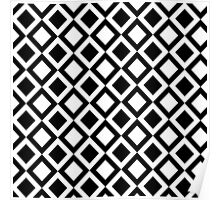 Elegant Black and White Geometric Squares Poster
