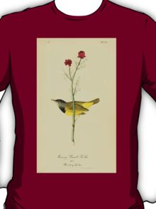 James Audubon Vector Rebuild - The Birds of America - From Drawings Made in the United States and Their Territories V 1-7 1840 - Mourning Ground Warbler T-Shirt