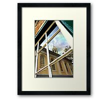 Reflection from the Old Jail Framed Print