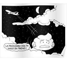 VITA E AVVENTURE DI PICCOLE MERDE - Voli low cost Poster