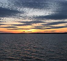 Sunset Over Lake - Orman Dam by WILDBRIMOWILDMAN