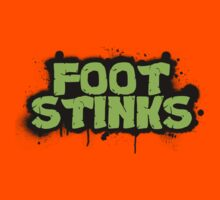 FOOT STINKS tmnt style Kids Clothes