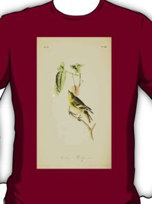 James Audubon Vector Rebuild - The Birds of America - From Drawings Made in the United States and Their Territories V 1-7 1840 - Stanley Goldfinch T-Shirt