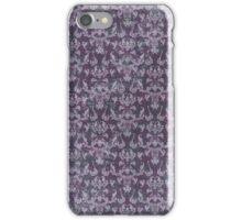 Vintage Purple Grunge Damask iPhone Case/Skin