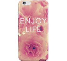 Vintage Flowers Quote iPhone Case/Skin