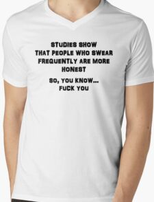 On Swearing Mens V-Neck T-Shirt