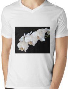 White Orchids Mens V-Neck T-Shirt