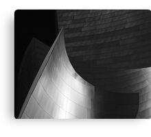 Disney Hall Abstract Black and White Canvas Print
